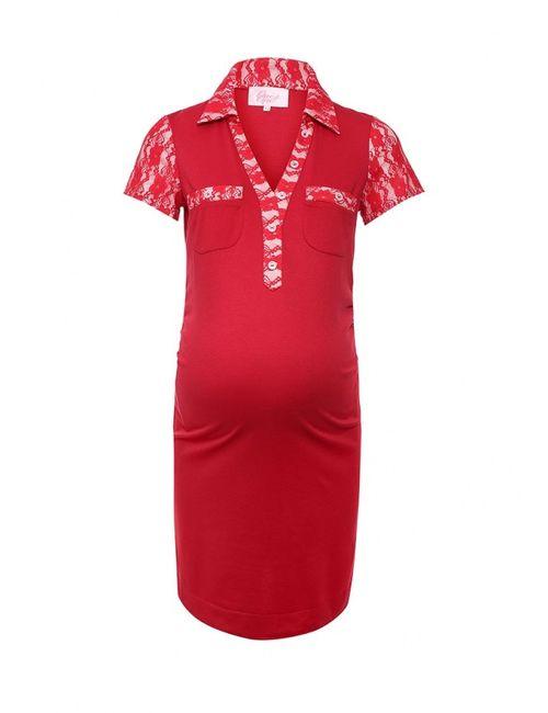 One+One   Женское Красное Платье
