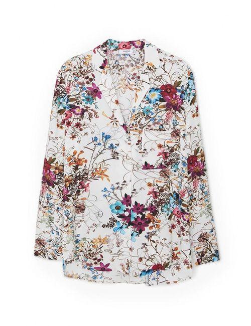 Mango | Женская Многоцветная Блуза