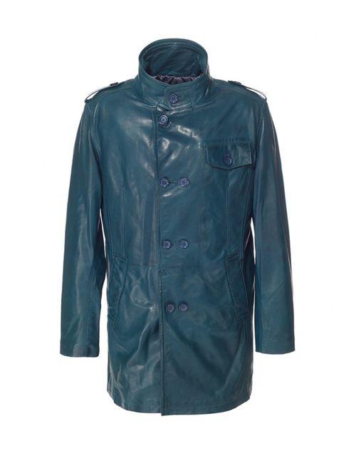 Московская Меховая Компания | Мужская Синяя Куртка Московская Меховая Компания