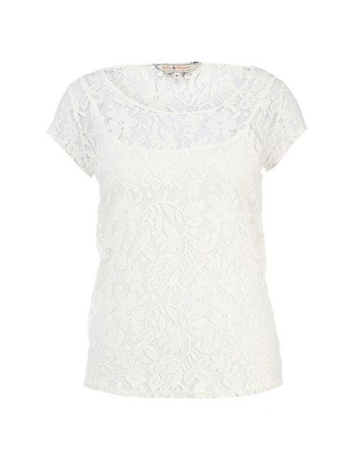 Billie & Blossom | Женская Белая Блуза Billie Amp Blossom