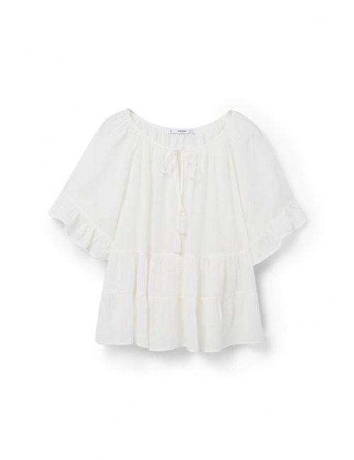 Mango | Женская Белая Блуза