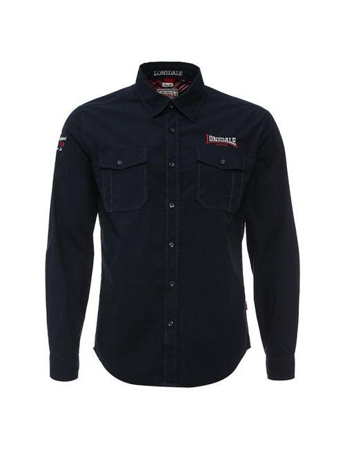 Lonsdale | Мужская Синяя Рубашка