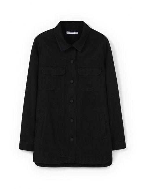 Mango | Женская Чёрная Рубашка