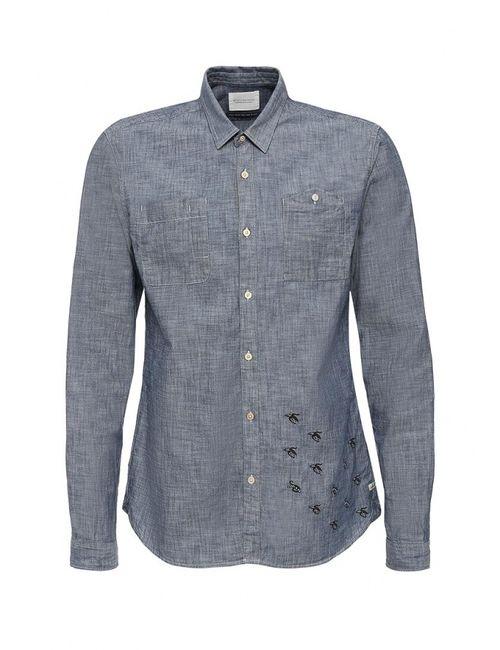 Scotch&Soda | Мужская Синяя Рубашка