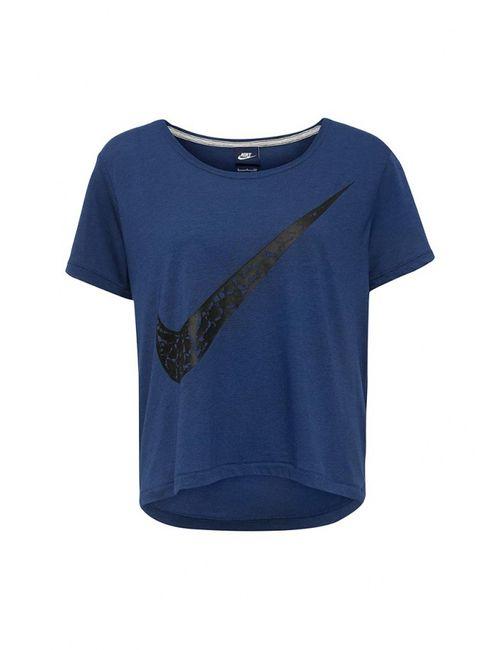Nike | Женская Синяя Футболка