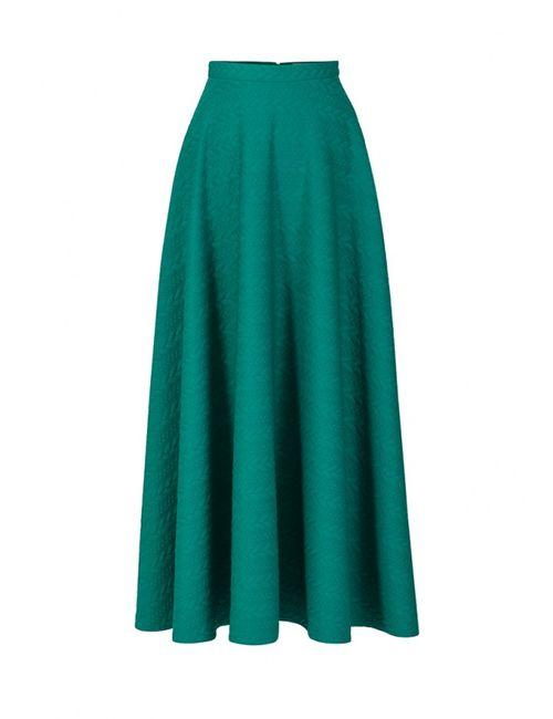 Bella Kareema | Женская Зелёная Юбка