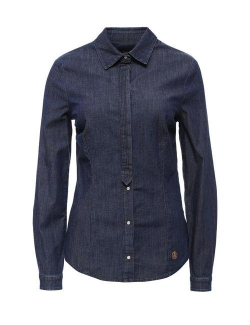 Trussardi Jeans | Женская Синяя Рубашка Джинсовая