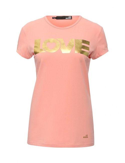 Love Moschino | Женская Розовая Футболка