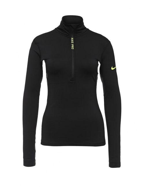 Nike   Женский Чёрный Лонгслив Спортивный