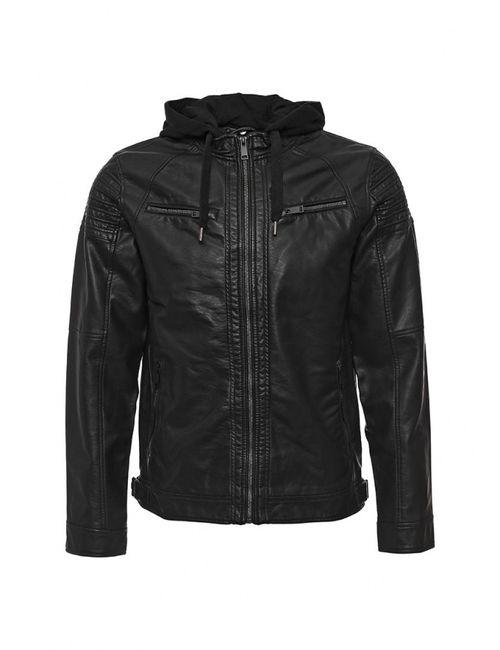 Brave Soul | Мужская Чёрная Куртка Кожаная