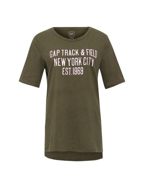 Gap | Женская Хаки Футболка
