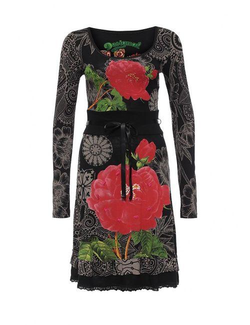 Desigual | Женское Чёрное Платье
