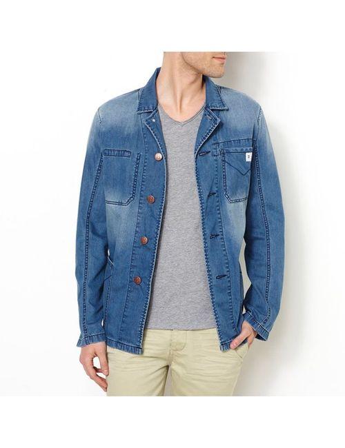 R jeans | Мужская Голуба Куртка Из Денима