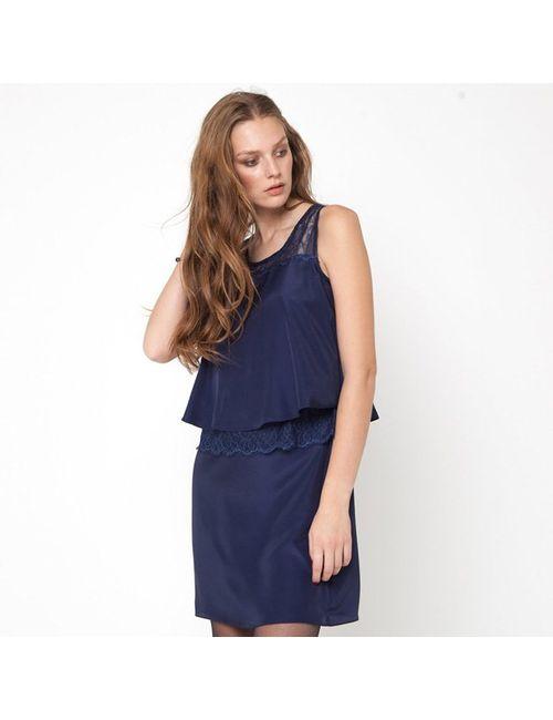 Мини-цена   Женское Синее Платье Без Рукавов