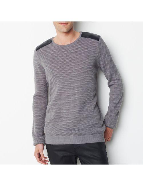 SOFT GREY | Мужской Чёрный Пуловер С Круглым Вырезом 100 Хлопка