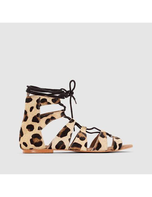 SOFT GREY | Женские Леопарды Босоножки