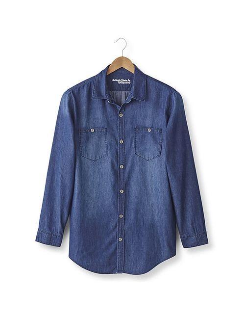 TAILLISSIME   Мужская Синяя Джинсовая Рубашка 187 М