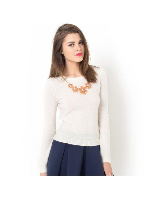 MADEMOISELLE R | Женский Серый Пуловер Со Съемным Украшением