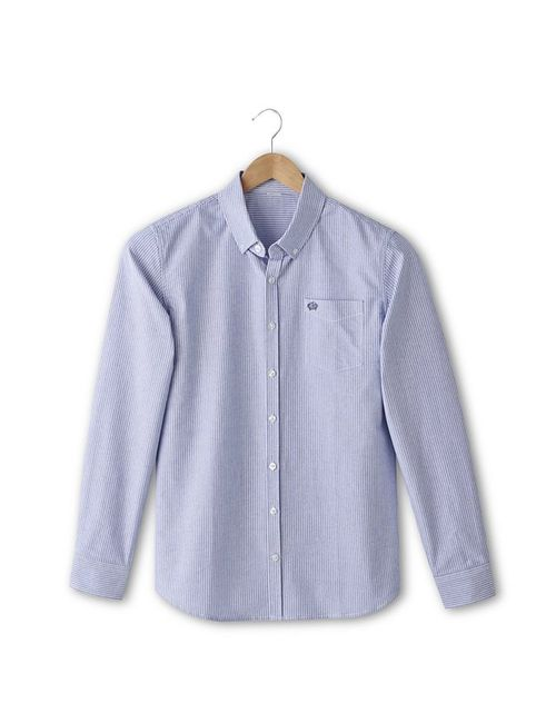 SOFT GREY | Мужская Синяя Рубашка Классического Покроя С Длинными Рукавами