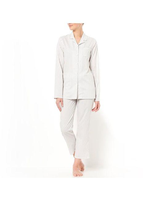 LOUISE MARNAY   Женская Белая Пижама Из Поплина В Полоску