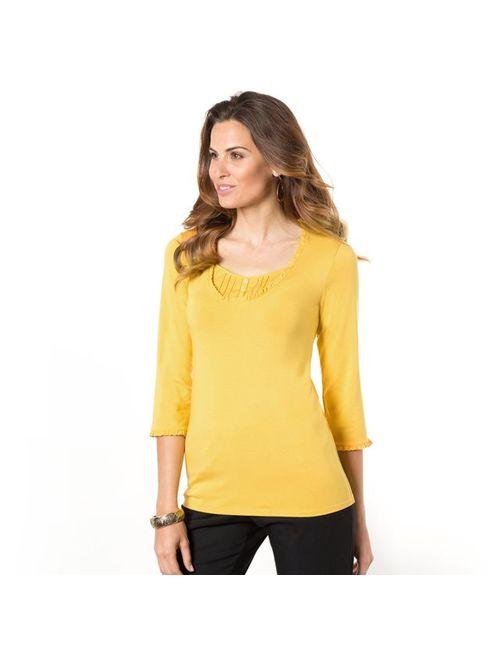 ANNE WEYBURN | Женская Жёлтая Футболка 2 В 1