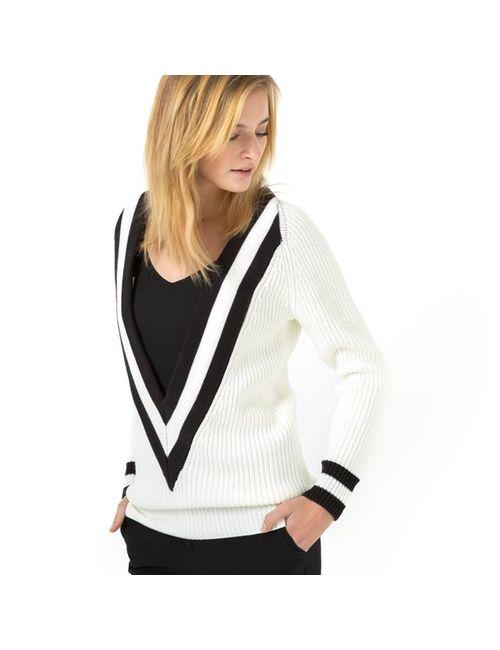 SOFT GREY | Женский Чёрный Пуловер Теннисный 100 Акрила