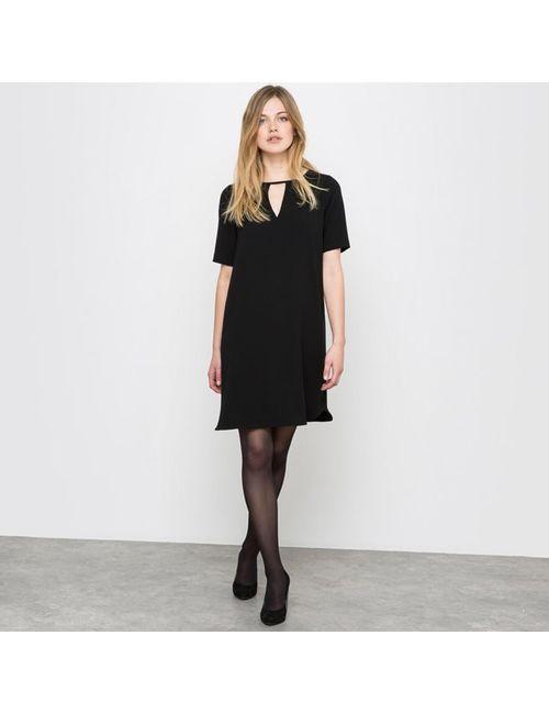 Мини-цена   Женское Чёрное Платье Прямое