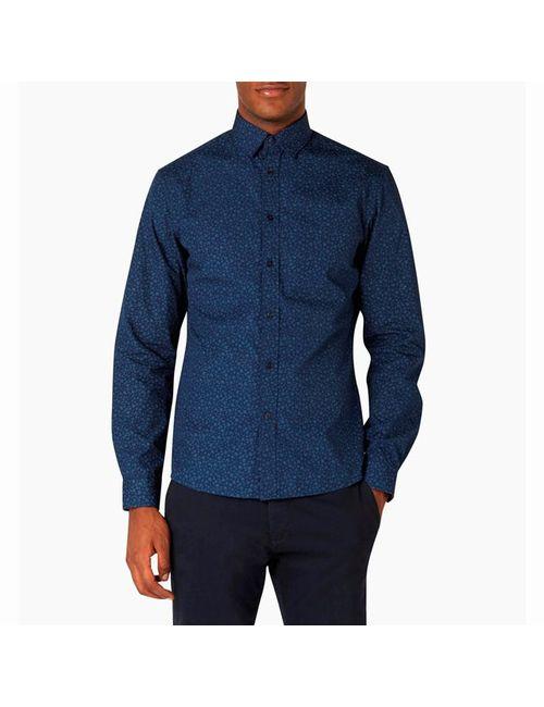 Celio | Мужская Синяя Рубашка С Рисунком Caflower