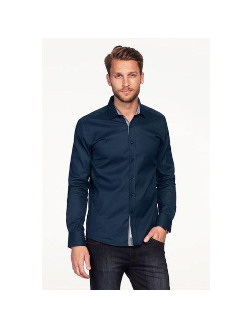 ELLOS   Мужская Синяя Рубашка