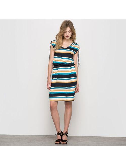 Мини-цена   Женское В Полоску Платье Из Трикотажа