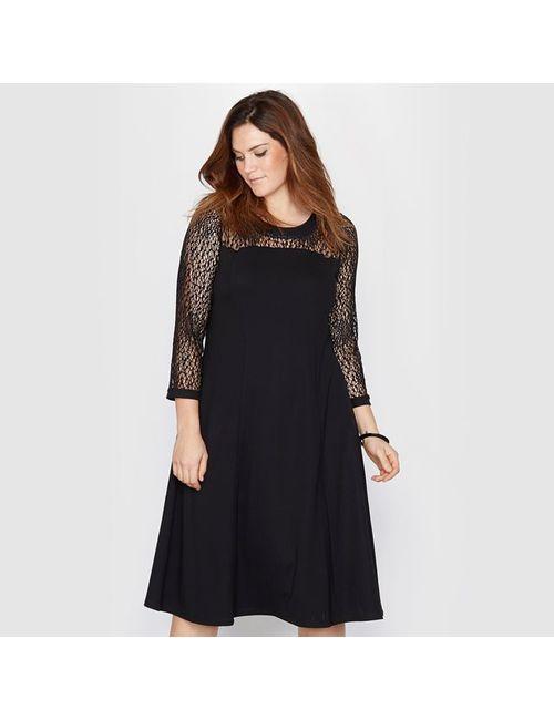 TAILLISSIME | Женское Чёрное Платье Из Трикотажа