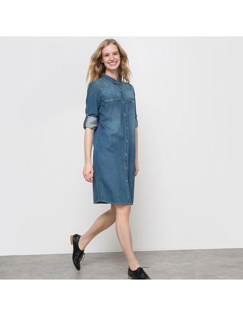 R essentiel   Женское Синее Платье Из Денима
