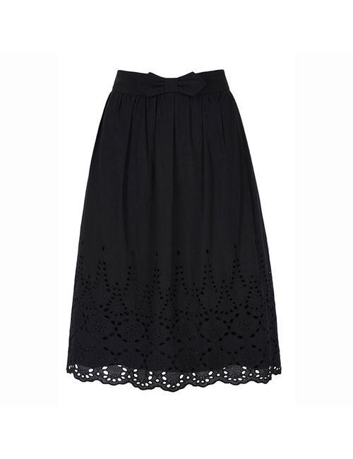 Yumi | Женская Чёрная Юбка Расклешенная