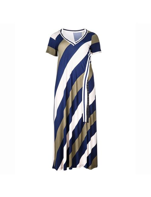 Mat Fashion | Женское Многоцветное Платье Длинное