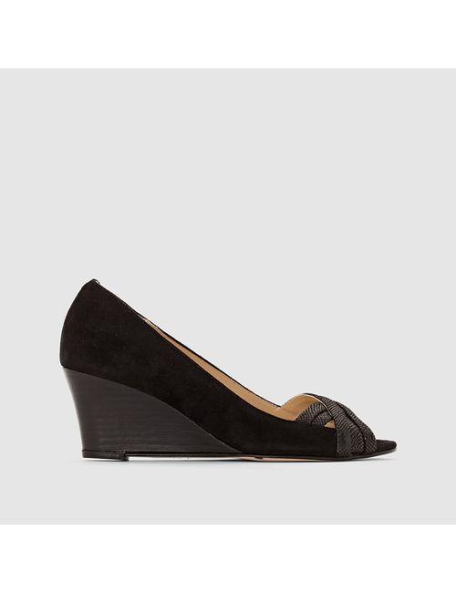 JONAK | Женские Чёрные Туфли Кожаные На Танкетке