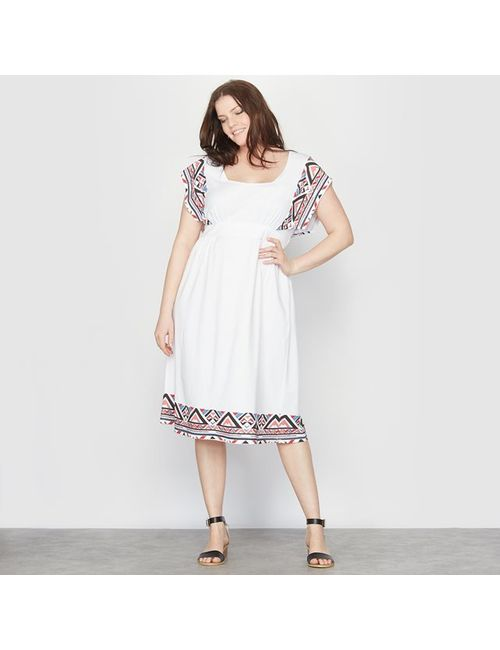TAILLISSIME | Женское Белое Платье С Короткими Рукавами
