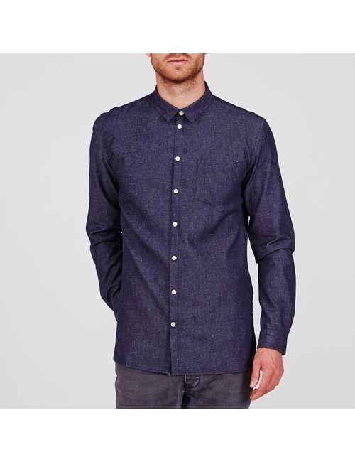 Minimum | Мужская Синяя Рубашка 100 Хлопка Glasgow