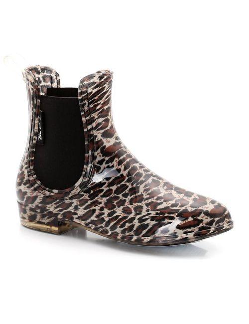 Be Only | Женские Леопардовый Рисунки Ботинки Защищающие От Дождя С Леопардовым Рисунком