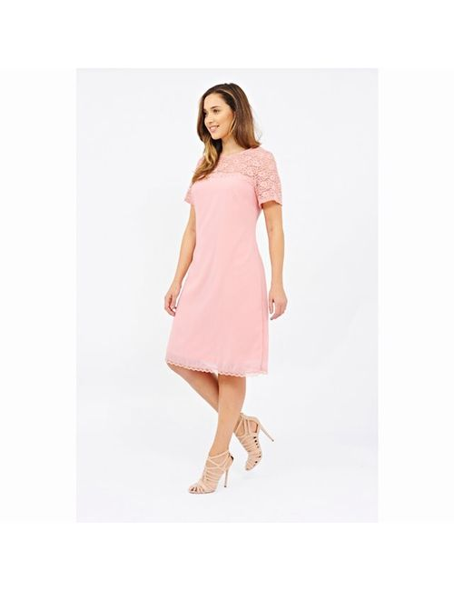 Lovedrobe | Женское Розовое Платье С Короткими Рукавами