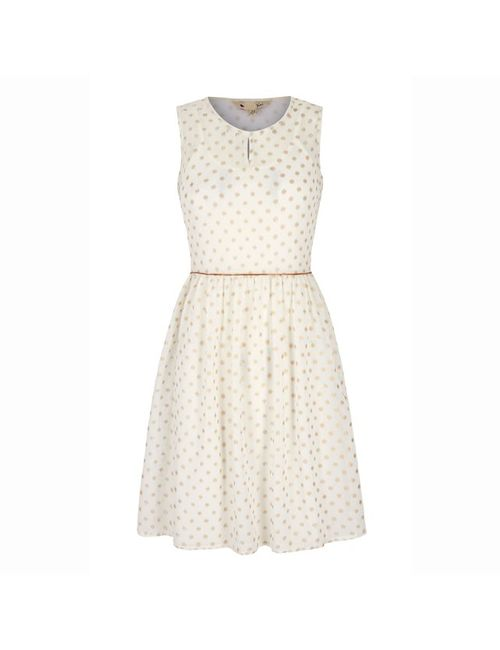 Yumi | Женское Экрящее Платье В Горошек Без Рукавов