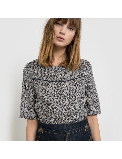 SOFT GREY | Женская Блузка С Рисунком Из 100 Хлопка