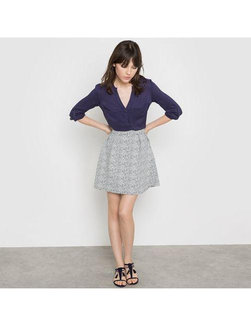 Vila | Женская Синяя Юбка Расклешенная С Рисунком Vimelea Skirt
