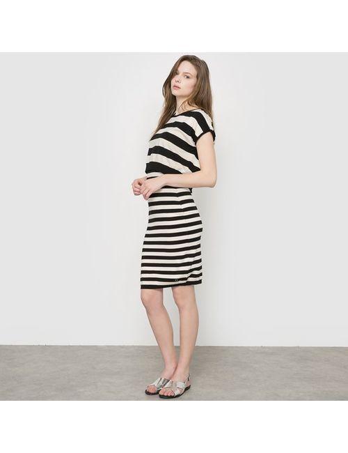 Numph | Женское Чёрное Платье В Полоску