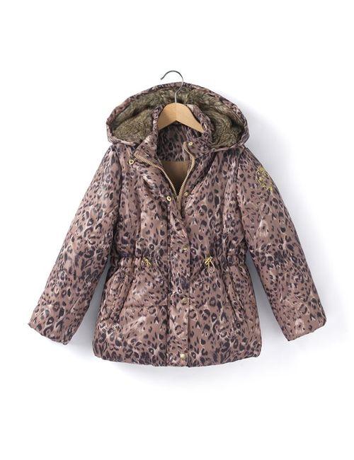 R essentiel | Леопардовый Рисунка Куртка Стеганая С Леопардовым Принтом На Флисовой