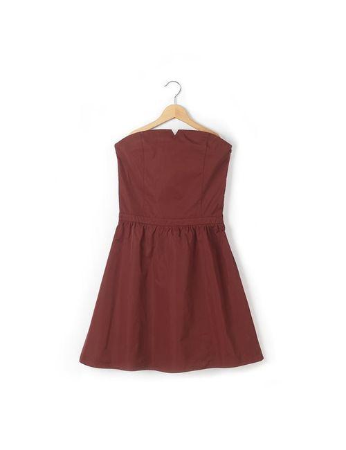 R teens | Красное Платье С Лифом Без Бретелей Шелковый Эффект