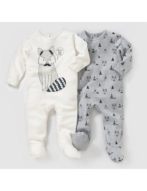 R essentiel | Белый 2 Пижамы Из Хлопка Интрелок 0 Мес.