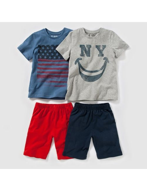 Мини-цена | Синий 2 Пижамы Из Джерси С Рисунком 2-12
