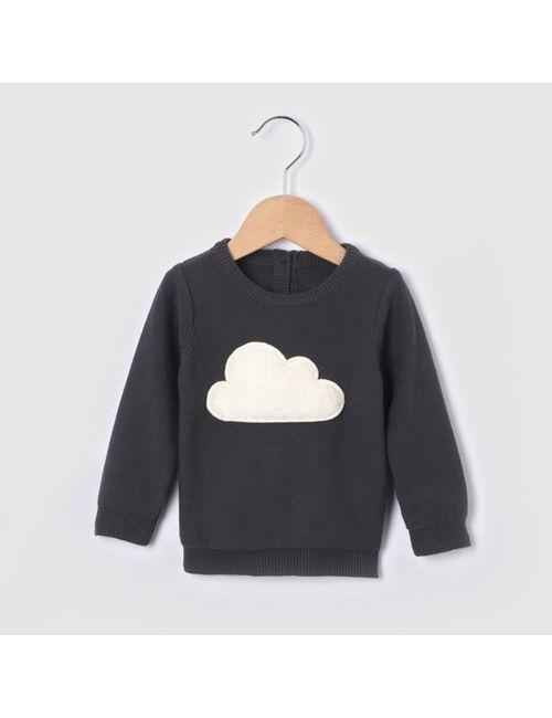 R baby | Антрацит Пуловер С Рельефным Рисунком Облака 0 Мес.-3
