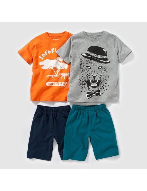 Мини-цена | Оранжевый 2 Пижамы Из Джерси С Рисунком 2-12