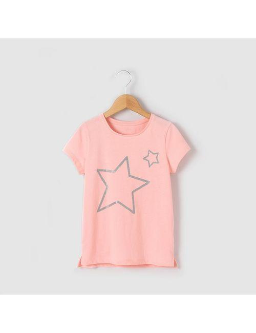 R essentiel | Розовая Футболка С Рисунком В Виде Звезд С